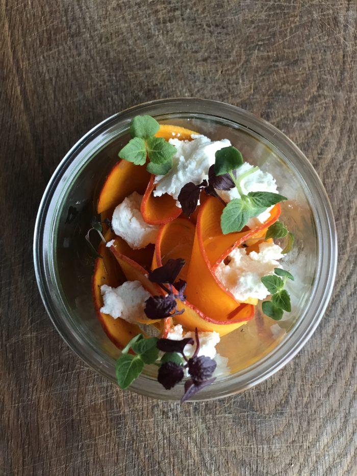Bio Kuerbissalat im Glas Hoflieferanten Catering